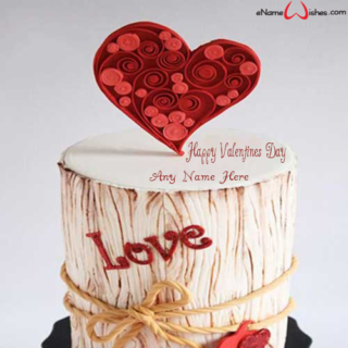 Heart-Valentines-Day-Wish-Cake-with-Name