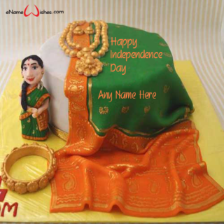 Indian-Traditional-Independence-Day-Name-Cake