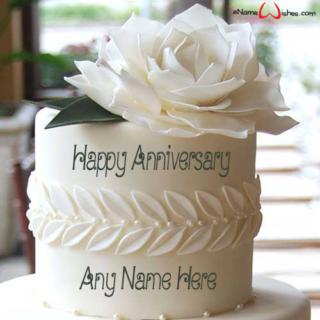 Leaf-Garland-Anniversary-Wish-Cake