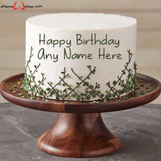 Leaf-Lattice-Birthday-Name-Cake