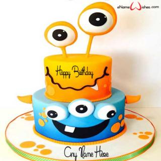 Monster-Birthday-Wish-Cake-with-Name