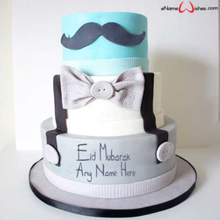 Mustache-Themed-Eid-Name-Cake