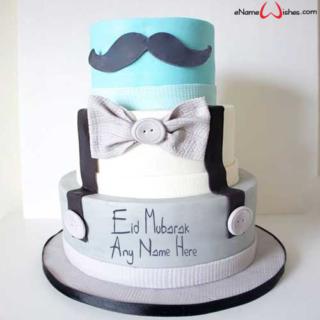 Mustache-Themed-Eid-Name-Cake
