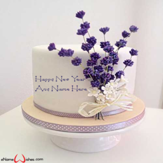 Personalized-flower-cake-for-New-Year-with-Name