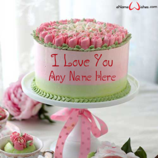 Pistachio-Rose-Love-Name-Cake