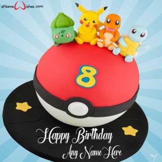 Pokemon-Name-birthday-Cake