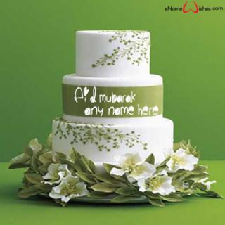 Romantic-Eid-Mubarak-Wish-Name-Cake