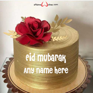 Rose-Flower-Eid-Cake-with-Name
