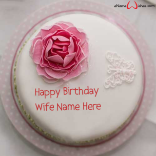 Rose-Flower-Name-Wish-Cake-for-Wife