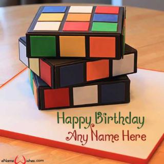Rubik-Cube-Birthday-Name-Cake