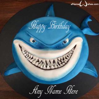 Shark-Birthday-Name-Cake