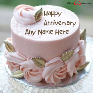 Simple-Anniversary-Cake-with-Name
