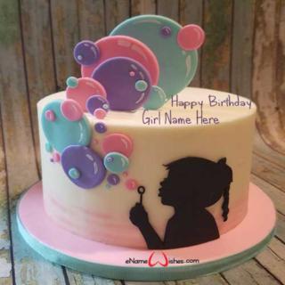 Simple-Bubble-Birthday-Name-Cake