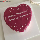 Simple-Heart-Shape-New-Year-Wish-Cake-with-Name