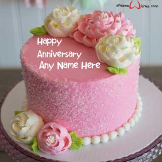 Simple-Wedding-Decorated-Name-Wish-Cake
