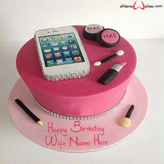 Smart-Phone-Birthday-Name-Cake