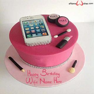 Smart-Phone-Birthday-Name-Cake