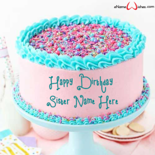 Strawberry Layer Birthday Name Cake