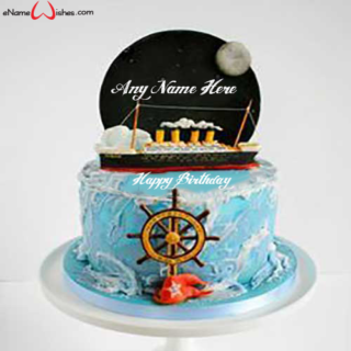 Titanic-Birthday-Name-Cake
