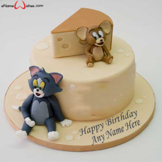 Tom-and-Jerry-Birthday-Name-Cake