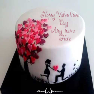 Unique-Valentines-Day-Wish-Name-Cake