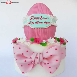 Vanilla-Happy-Easter-Wish-Cake-with-Name