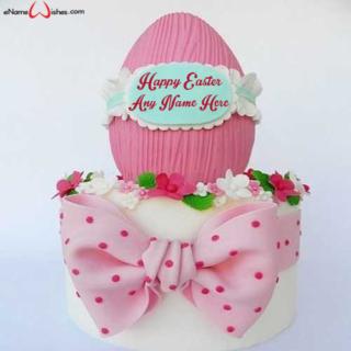 Vanilla-Happy-Easter-Wish-Cake-with-Name