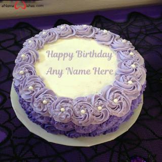 Violet-Roses-Birthday-Cake-For-Lover