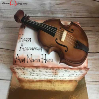 Violin-Anniversary-Cake-with-Name