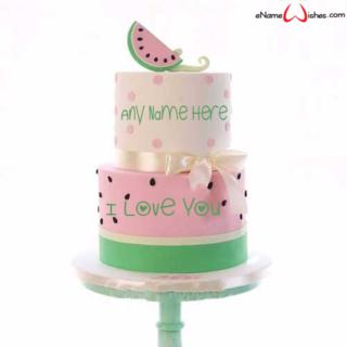 Watermelon-Love-Wish-Name-Cake