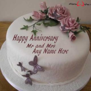 Write-Name-on-Anniversary-Wish-Cake
