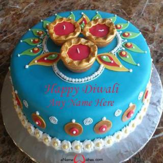 Write-Name-on-Happy-Diwali-Cake