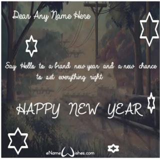 Write-Name-on-New-Year-Eve-Wish-Card