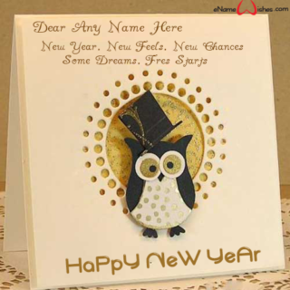 write name on new year wish card