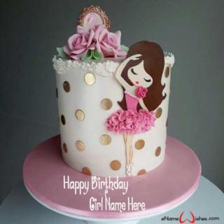 Write-Name-on-Princess-Birthday-Cake