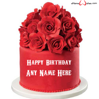 birthday-cake-for-lover-with-roses