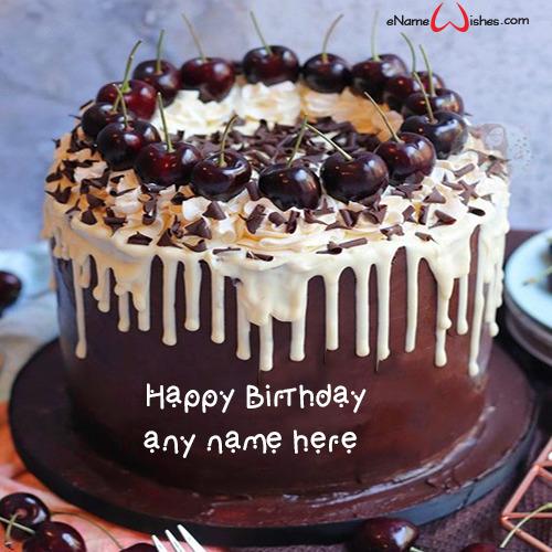 Black Forest Cake Name Edit Enamewishes