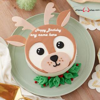 cute-deer-birthday-cake-name-editor-online