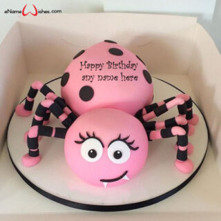 cute-spider-birthday-wishes-cake-with-name-edit