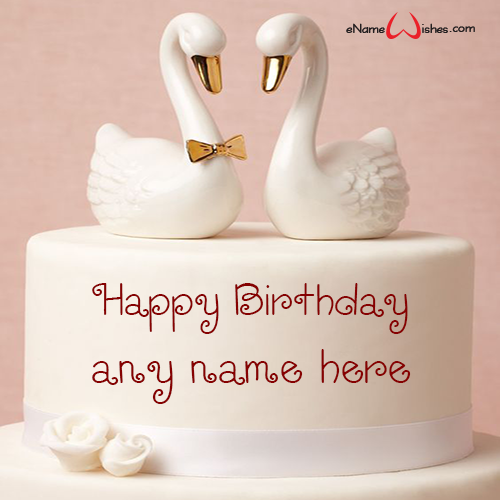 Happy Birthday Wishes with Name Edit Cake - eNameWishes