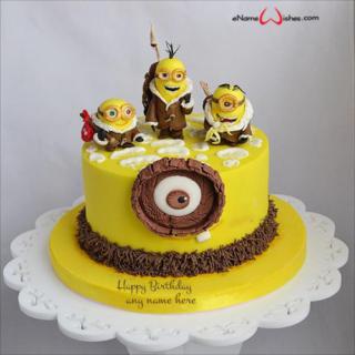 minion-birthday-cake-with-name-generator
