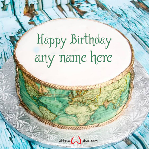 Name Editor Happy Birthday Cake with Name Edit - eNameWishes