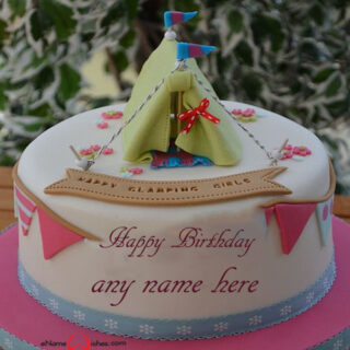 Online Birthday Cake with Name Edit for Stylish Girl