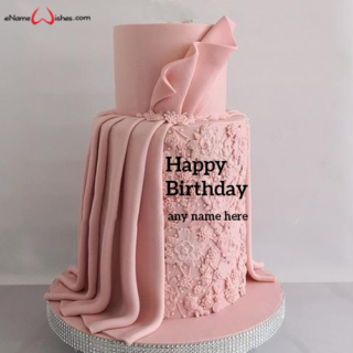 personalized-pink-dress-birthday-cake-with-name