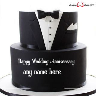 tuxedo-wedding-anniversary-wishes-cake-with-name