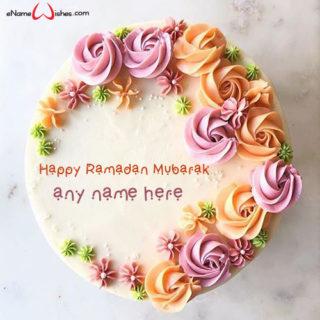 write-name-on-ramadan-mubarak-cake