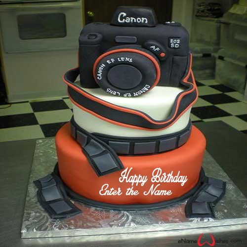 Brilliant Awesome Camera Birthday Wish Name Cake Enamewishes Funny Birthday Cards Online Benoljebrpdamsfinfo