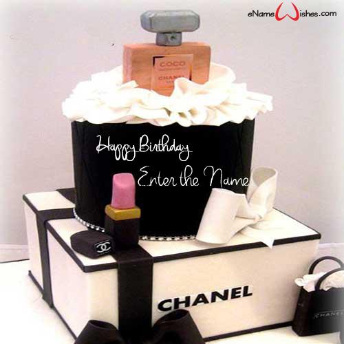 Outstanding Chanel Perfume Birthday Wish Name Cake Enamewishes Funny Birthday Cards Online Necthendildamsfinfo