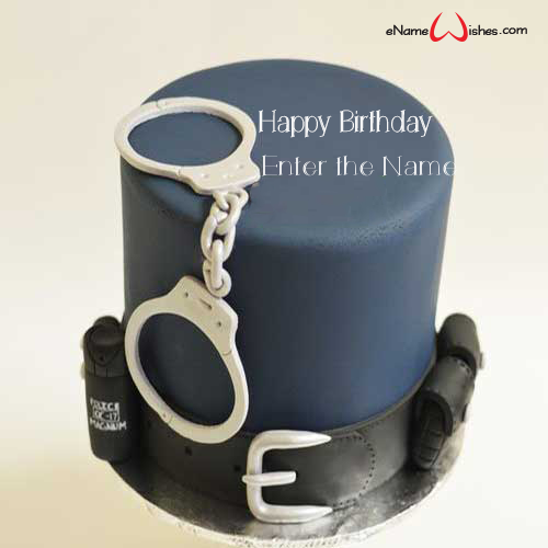 Super Police Officer Birthday Wish Cake Enamewishes Funny Birthday Cards Online Hendilapandamsfinfo