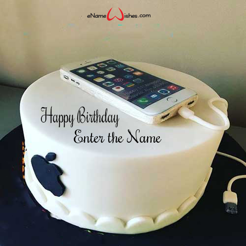 Brilliant Apple Iphone Birthday Wish Name Cake Enamewishes Funny Birthday Cards Online Aeocydamsfinfo
